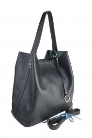Dámská kožená kabelka FACEBAG BETH - Černá *dolaro*