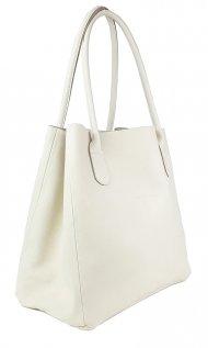 Dámská kožená kabelka FACEBAG TINA - Béžová *dolaro*
