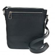 Pánská kožená taška FACEBAG DENY - Černá