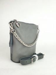 Dámská kožená kabelka FACEBAG EMMA II. - Tmavá šedá hladká