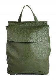 Designový kožený batůžek FACEBAG KENNY 8018 - Tmavá zelená *dolaro*