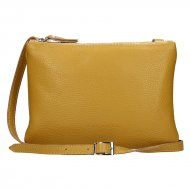 Dámská kožená kabelka FACEBAG ALLY - Tmavá žlutá