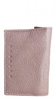 Kožené pouzdro na doklady FACEBAG 115057 - Metalická liliová
