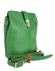 Dámská kožená kabelka FACEBAG ANNA - Zelená hladká