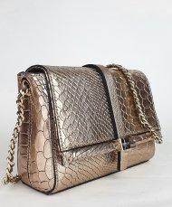 Kožená kabelka Ripani 5771 WL 076 Linfa zlatá had