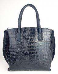 Dámská italská kožená kabelka 4253 - Černá *kroko*