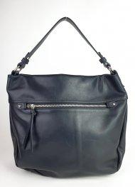 Dámská italská kožená kabelka 3260 - Černá hladká
