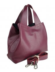 Dámská kožená kabelka FACEBAG SOFI - vínová