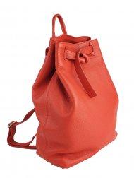 Dámský kožený batoh FACEBAG ELMA - Červená *dolaro*