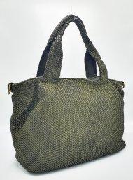 Kožená kabelka 3355 zelená vintage