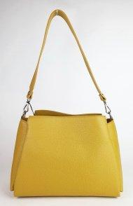 Dámská italská kožená kabelka 3316 - Tmavá žlutá *dolaro*