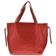 Dámská kožená kabelka AVILLA - Červená