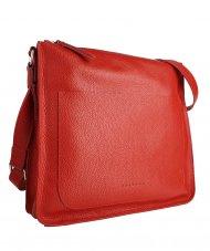 Dámská kožená kabelka FACEBAG AMY - Červená *dolaro*