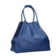 Dámská kožená kabelka FACEBAG MEDA - Tmavá modrá *dolaro*