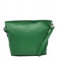 Kožená crossbody kabelka Olivia tmavě zelená