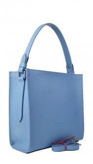 Dámská kožená kabelka FACEBAG ANGE - Světlá modrá *dolaro*
