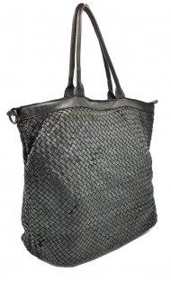 Kožená kabelka 2201 černá vintage