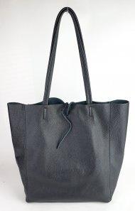 Dámská italská kožená taška 3058 - Černá *dolaro*