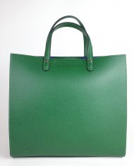 Dámská italská kožená kabelka 3292 - Tmavá zelená *palmelato*