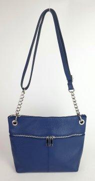Dámská italská kožená kabelka 3284 - Modrá *dolaro*