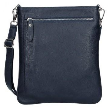 Pánská kožená kabelka FACEBAG IVO - Tmavá modrá