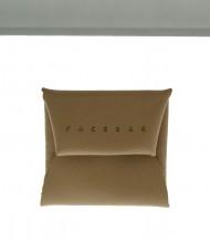 Kožený mincovník FACEBAG - Pudrová safiano