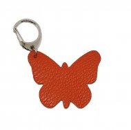 Kožený přívěsek motýl FACEBAG - Oranžová *dolaro*