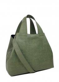 Dámská kožená kabelka FACEBAG SOFI - Zelená *vintage*