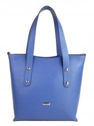 Dámská kožená kabelka FACEBAG IRENE - Modrá