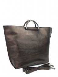 Dámská kožená kabelka FACEBAG TALIA - Tmavá bronzová hladká