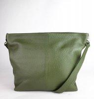 Dámská italská kožená kabelka 3147 - Tmavá zelená *dolaro*