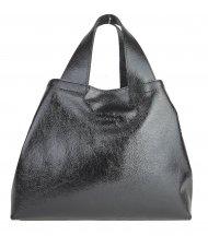 Dámská kožená kabelka FACEBAG SOFI - Černá lak