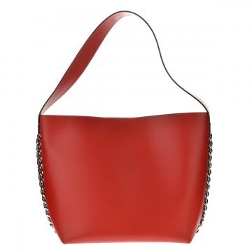 Italská kožená kabelka CORTONA  - Červená