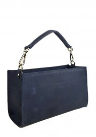 Kožená kabelka do ruky Bety modrá vintage