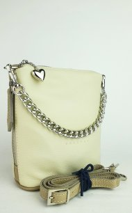Dámská kožená kabelka FACEBAG EMMA II. - Béžová *dolaro*