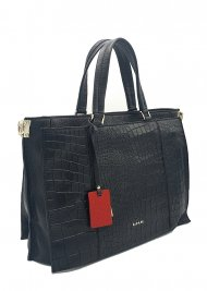 Kožená kabelka Ripani 2852 OA 003 černá kroko