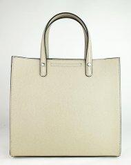 Dámská italská kožená kabelka 3293 - Béžová