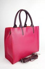 Dámská kožená kabelka FACEBAG LUSSA - Fuchsie *safiano*