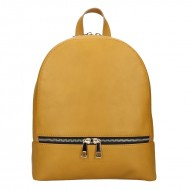 Designový kožený batůžek FACEBAG CANDY  8006/41 - tmavý žlutý