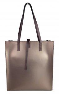 Dámská kožená kabelka FACEBAG REIMS - Bronzová *ruga*