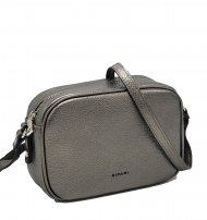 Kožená crossbody kabelka Ripani 8003 OL 079 Easy bag stříbrná