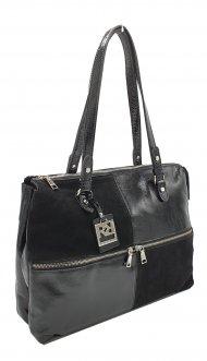 Kožená kabelka Ripani 2712 QO 003 Virgo černá