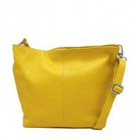 Kožená crossbody kabelka Olivia žlutá