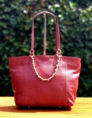 Dámská kožená kabelka facebag MILIA - Vínová