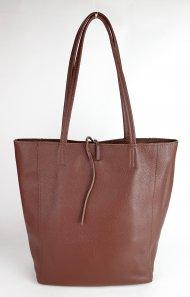 Dámská italská kožená taška 1607 MF - Tmavá hnědá *dolaro*