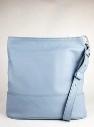 Dámská kožená kabelka FACEBAG FUDA - Světlá modrá hladká