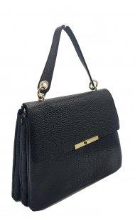 Kožená kabelka Ripani 2262 OB 003 Tuculca černá