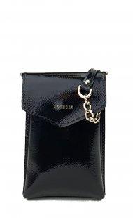 Kožené pouzdro na mobil FACEBAG 8054 - Černá lak