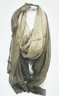 Dámský šátek z viskózy olivový