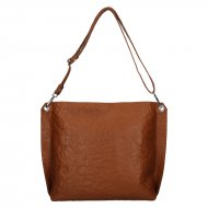 Dámská kožená kabelka FACEBAG - CASIA 1 - Cuoio se vzorem